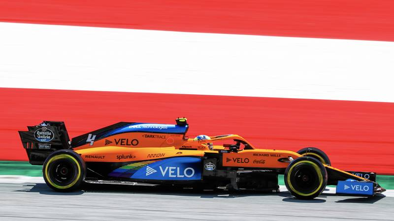 Lando Norris on track at the Red Bull Ring ahead of the 2020 F1 Austrian Grand Prix