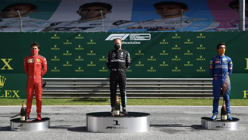 2020 Austrian Grand Prix podium