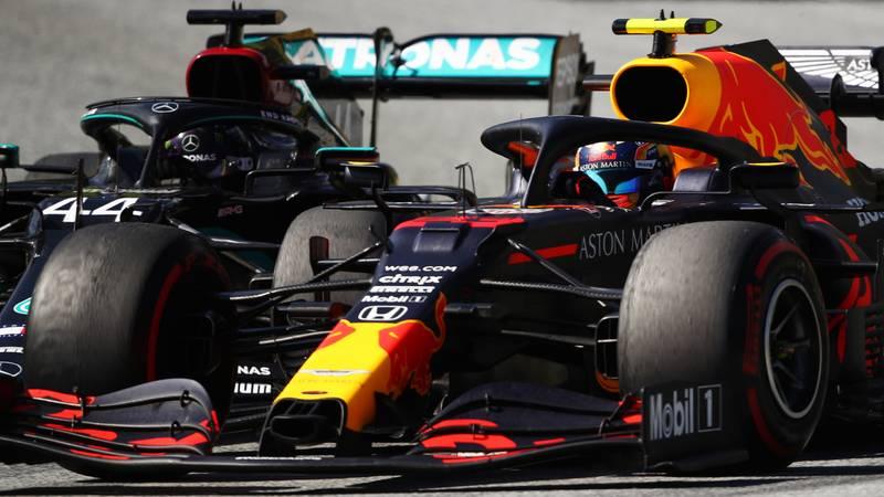 Alex Albon, Lewis Hamilton, 2020 Austrian GP