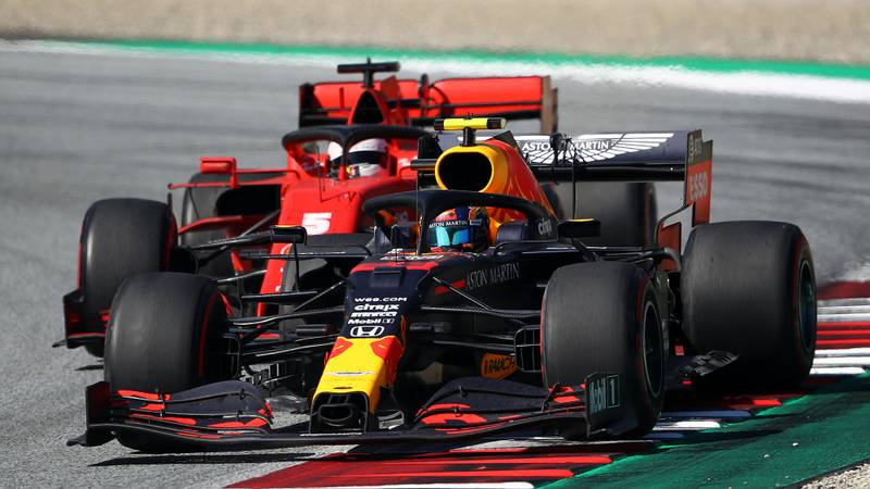 2020 Austrian GP, Alex Albon, Sebastian Vettel