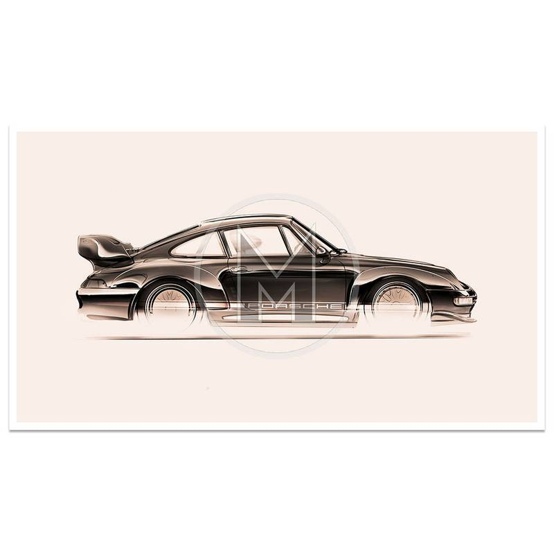 Product image for Porsche 993 GT2 - 1993 | Frederic Dams | Art Print