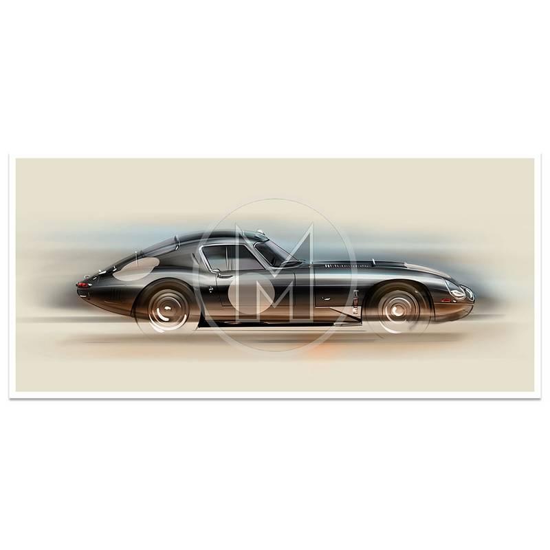 Product image for Jaguar E-Type Low Drag - 1962 | Frederic Dams | Art Print