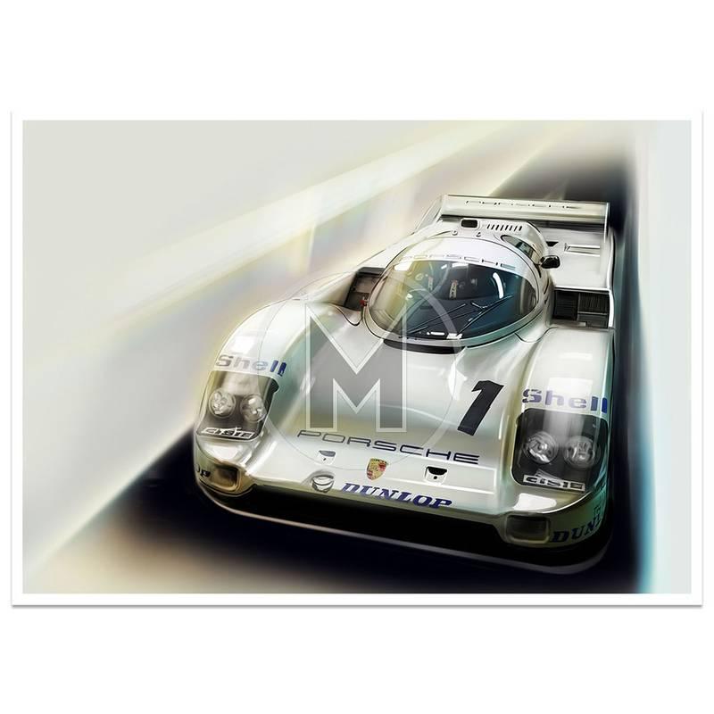 Product image for Mario Andretti - Porsche 962 - 1984 | Frederic Dams | Art Print