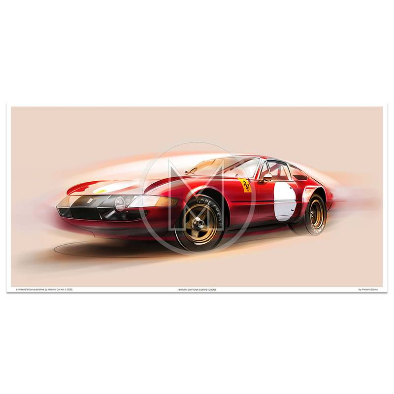 Product image for Ferrari Daytona Competizione | Art Print | By Frederic Dams
