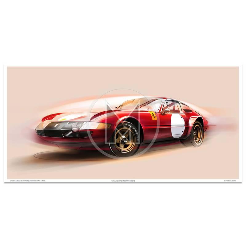 Product image for Ferrari 365 GTB/4 Daytona Competizione - 1969 /1970 | Frederic Dams | Art Print