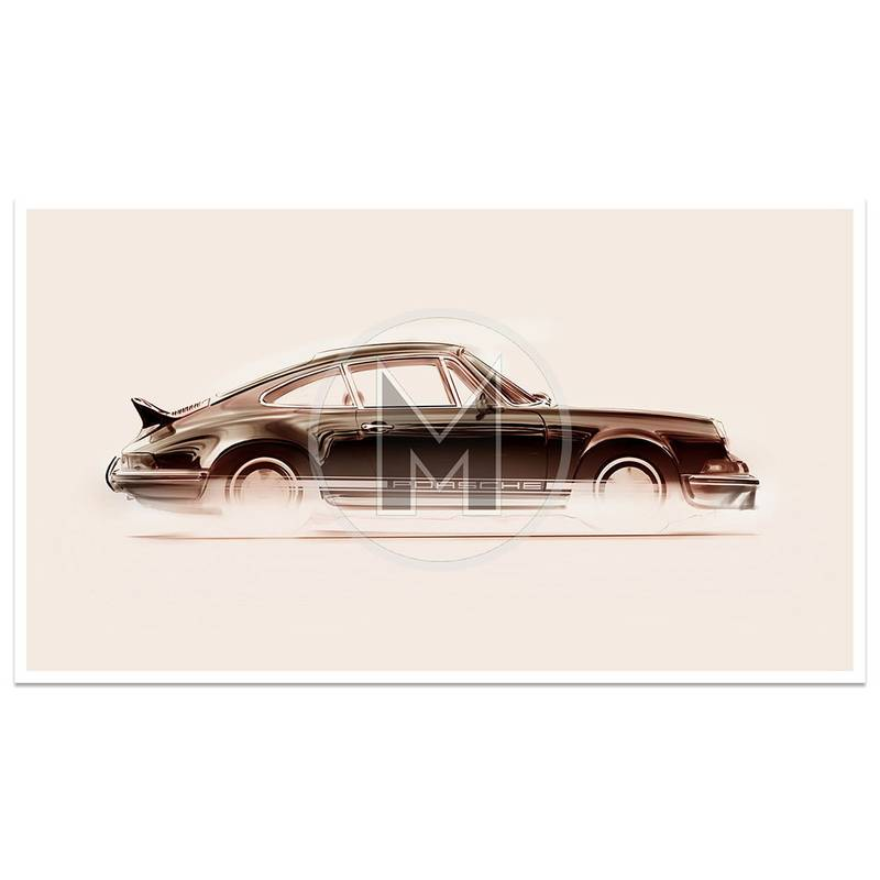 Product image for Porsche 911 2.7 RS | Art Print | By Frederic Dams