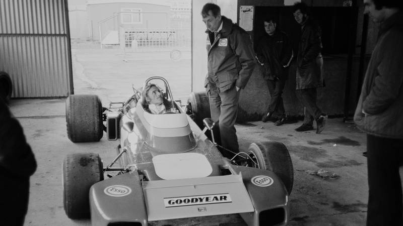 Ron Tauranac with Graham Hill in 1971