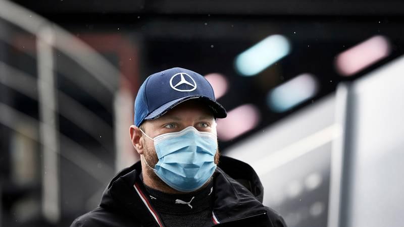 Valtteri Bottas wearing a face mask at the 2020 F1 Hungarian Grand Prix