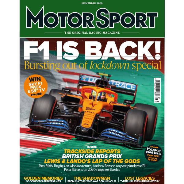 Product image for September 2020 | F1 is Back! | Motor Sport Magazine