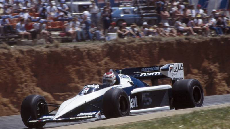 Nelson Piquet in his Brabham at the 1983 South African Grand Prix