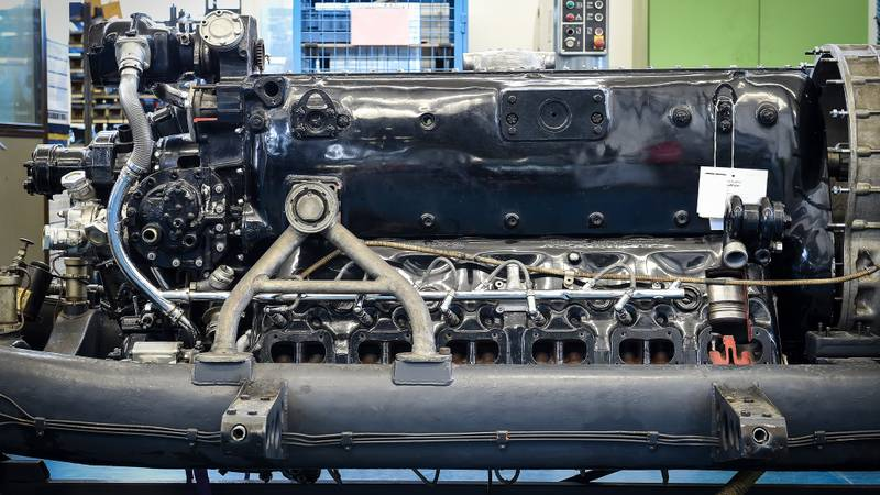 Messerschmitt engine used for the Mercedes T 80 land speed record car
