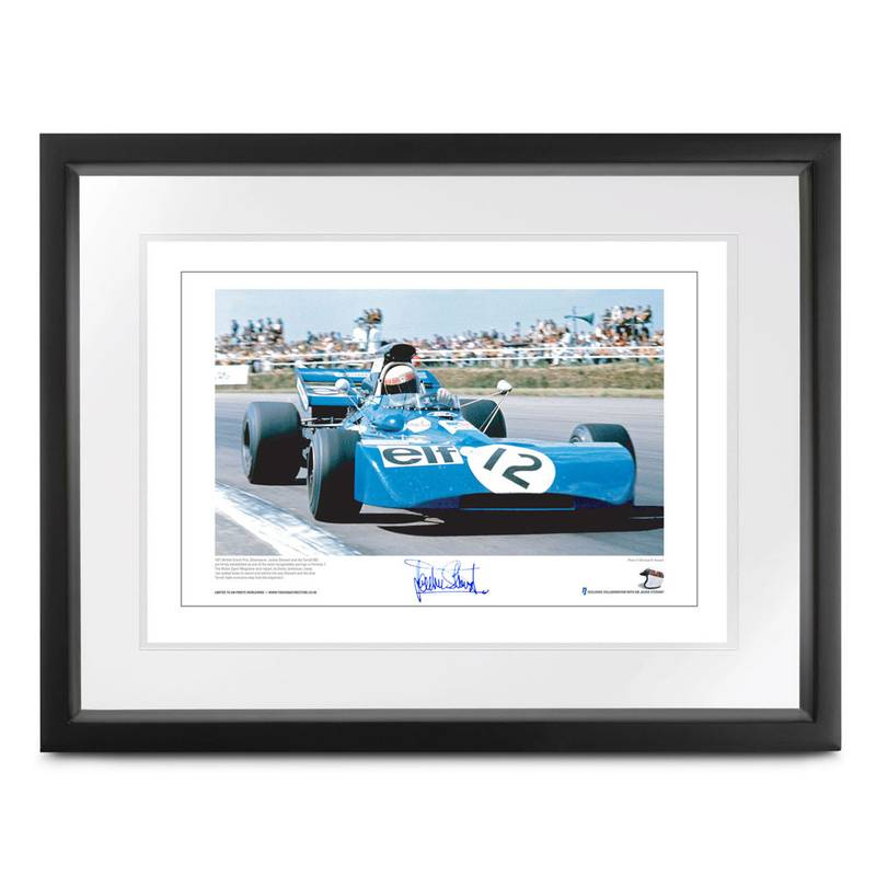 Product image for Tyrrell 003 Lithographic Print, signed Sir Jackie Stewart