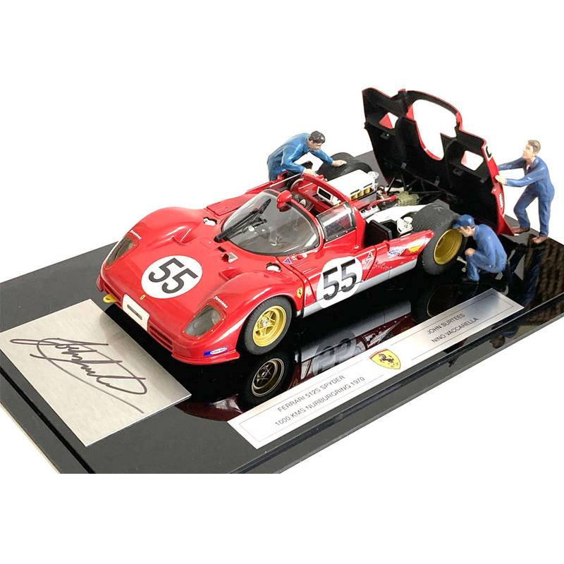 Product image for Ferrari 512S Spyder, 1000kms Nurburgring diorama, signed John Surtees
