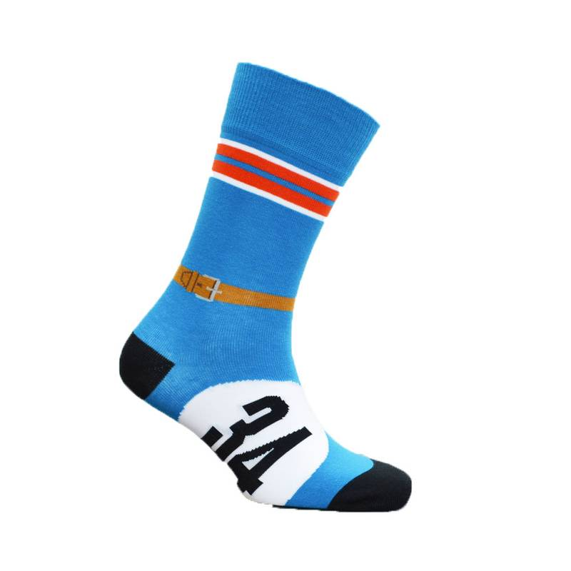 Product image for Blue with Bonnet Strap - Bugatti | Motoring Leg-Ends | Socks