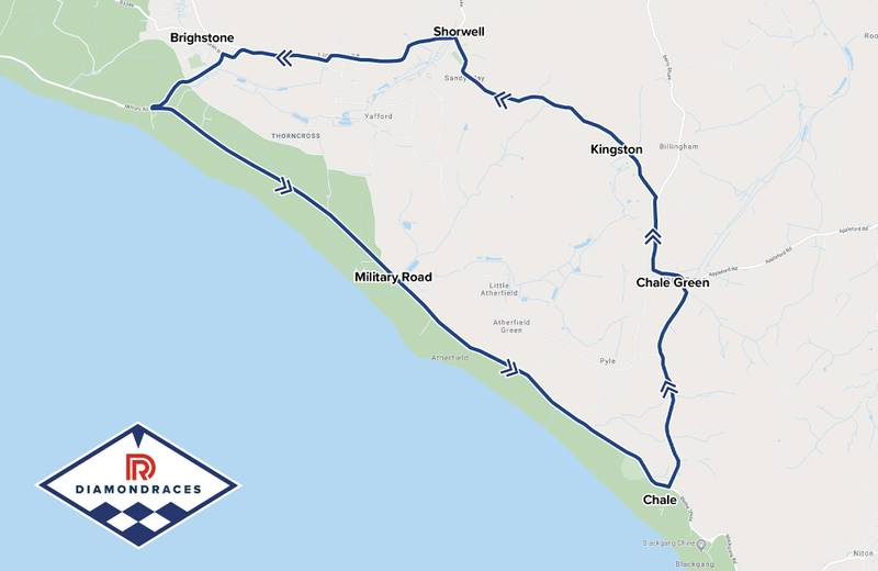 Isle of Wight Diamond race circuit map
