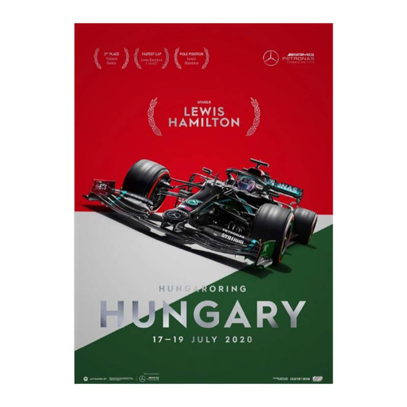 Product image for Winners' Series | Lewis Hamilton - Mercedes W11 - Hungary 2020 | Automobilist | Collector's Edition poster