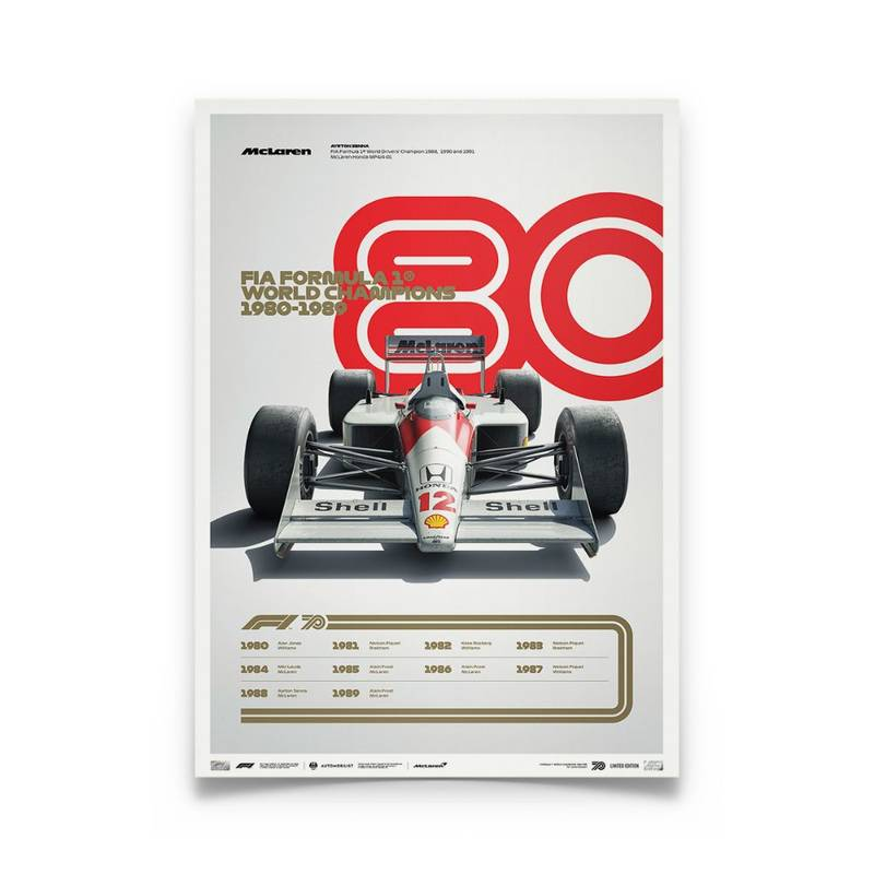 Product image for Formula 1® Decades – 80s McLaren | Limited Edition