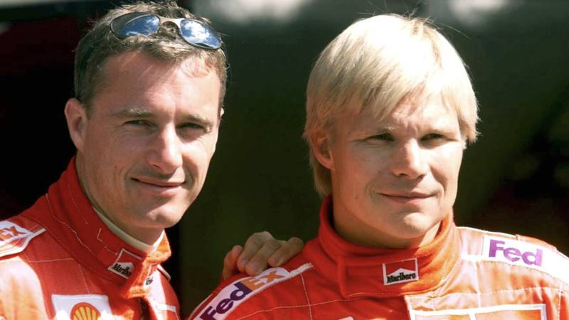 Eddie Irvine and Mika Salo at the 1999 Austrian Grand Prix