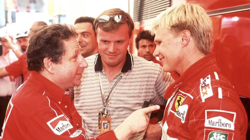 Jean Todt with Mika salo in 1999
