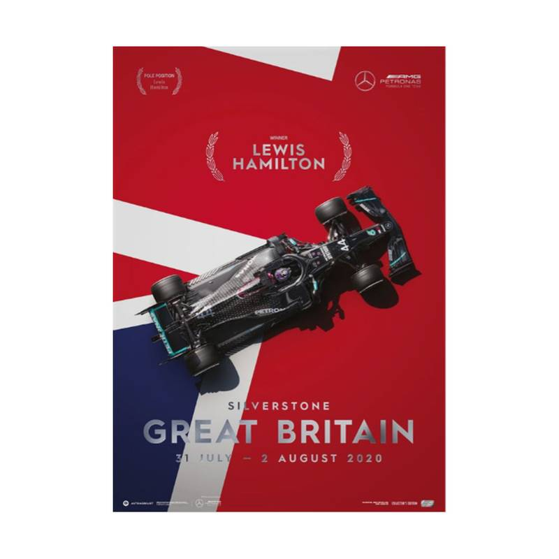 Product image for Lewis Hamilton - Mercedes W11 - Great Britain 2020 | Automobilist | Collector's Edition poster