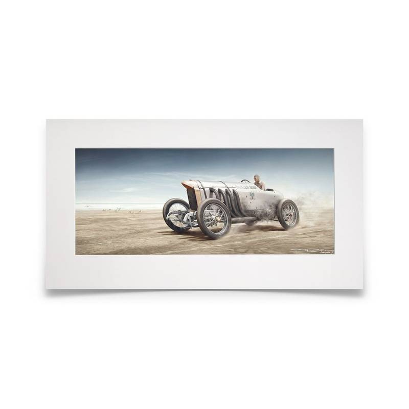 Product image for Blitzen Benz | Daytona Beach, USA / 23 April 1911 | Artwork