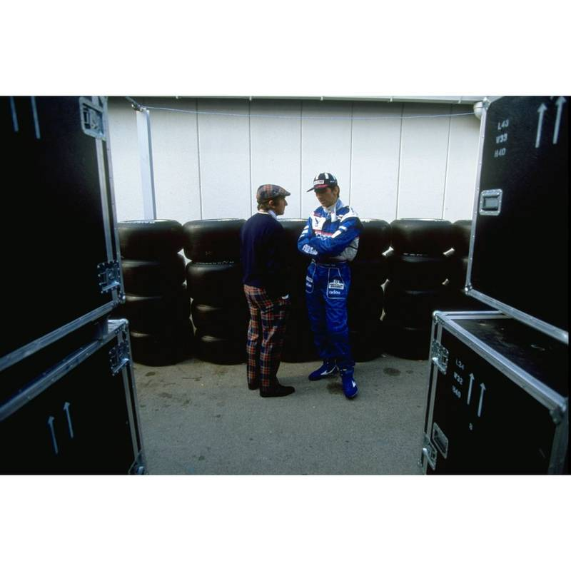 Product image for 1977 Jackie Stewart and Damon Hill | Getty Images | Premium print