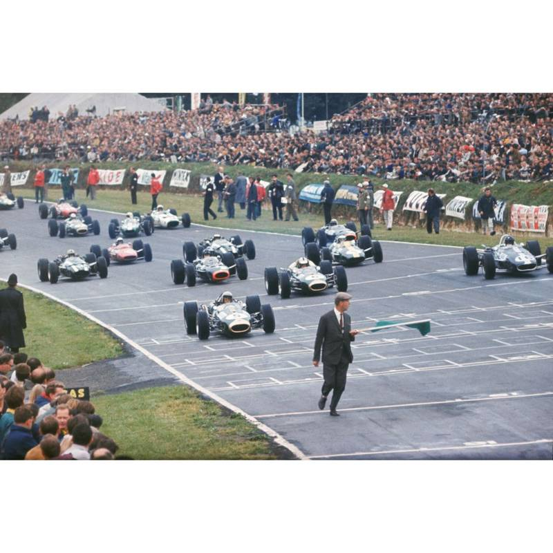 Product image for 1966 British Grand Prix | Getty Images | Premium print