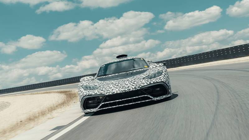 Video: Mercedes-AMG Project One, powered by Hamilton's F1 engine, goes testing