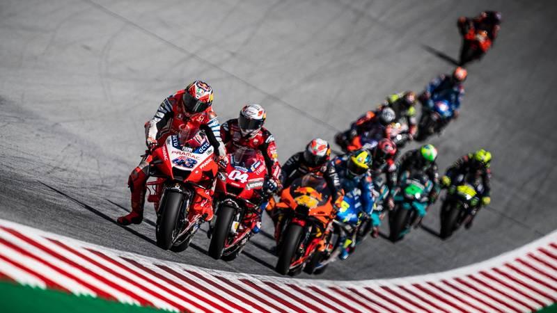 Jack Miller leading, MotoGP Aut GP 2020