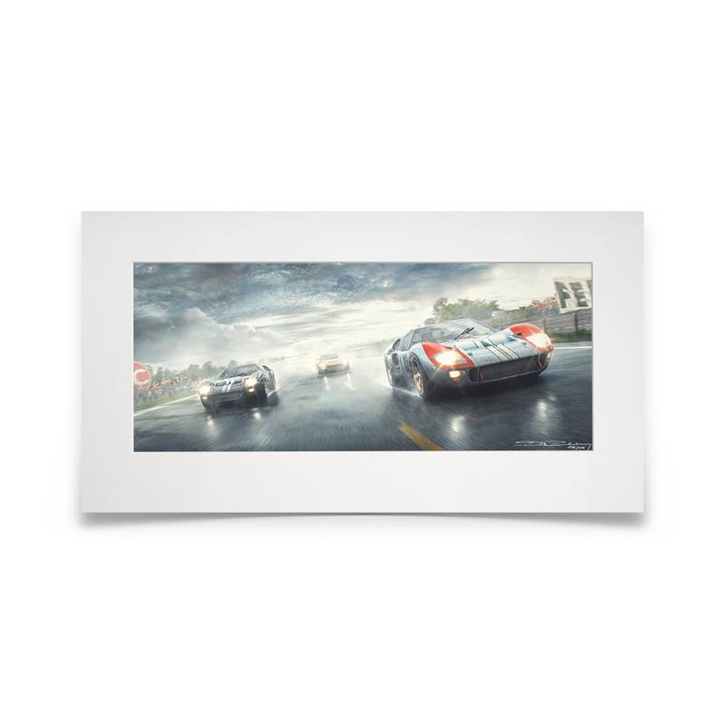 Product image for Fords And The Furious | Ford GT40 - Le Mans 24 Hours - 1966 | Fine Art