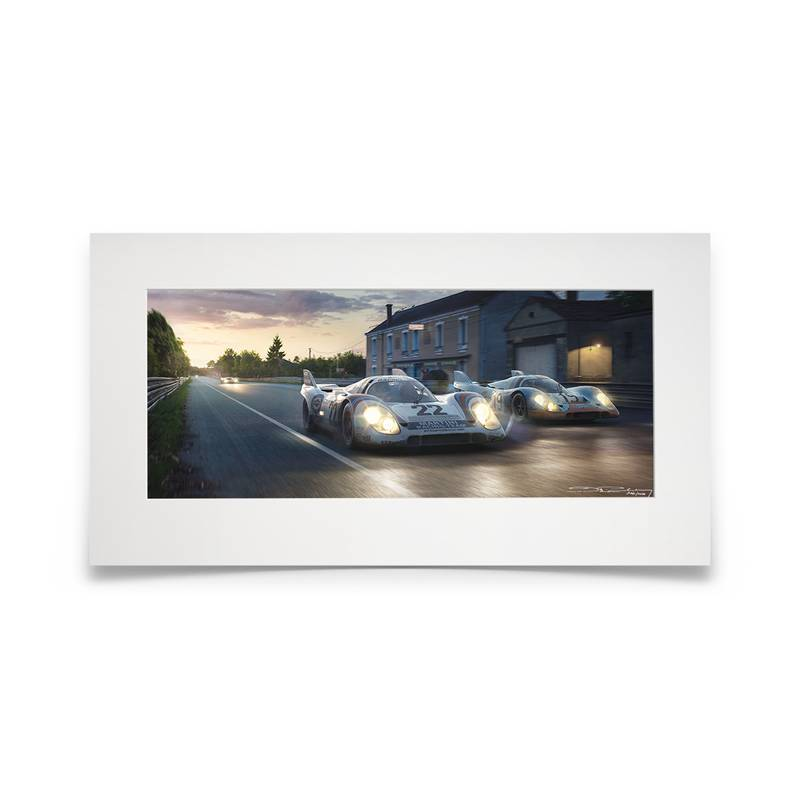 Product image for Piggyback | Porsche 917K -  Le Mans - 1971 | Automobilist | limited edition print