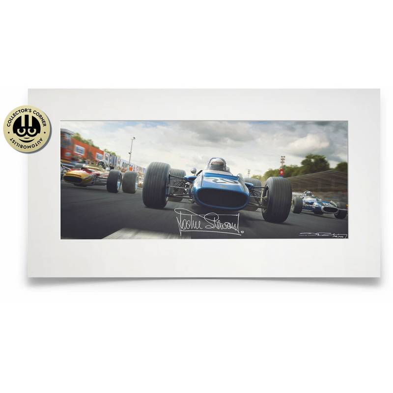 Product image for The Scot's Italian Job | Jackie Stewart - Matra MS80 - 1969 | limited edition print | signed Sir Jackie Stewart