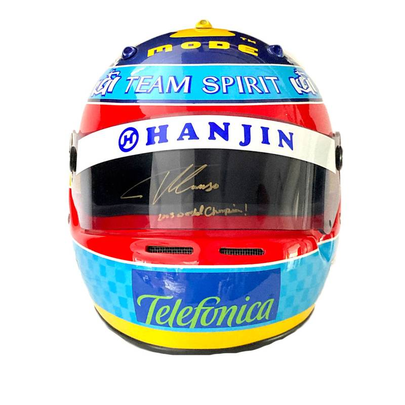 Product image for Fernando Alonso - Renault - 2005 | full-size replica helmet | signed Fernando Alonso