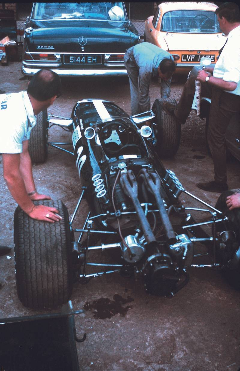 David Hobbs' BRM at Silverstone in 1967