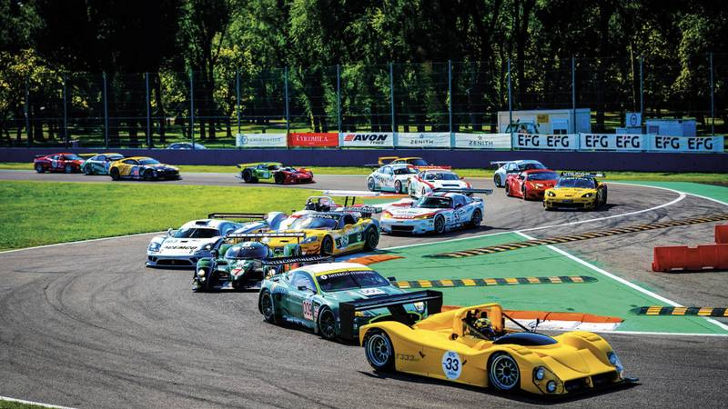 Le Mans cars at the Monza Historic event