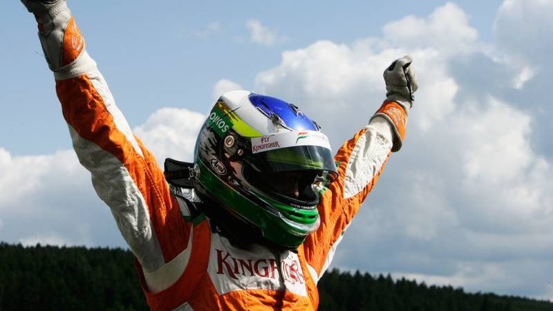 Fisichella and Force India's last pole – Belgian GP 2009