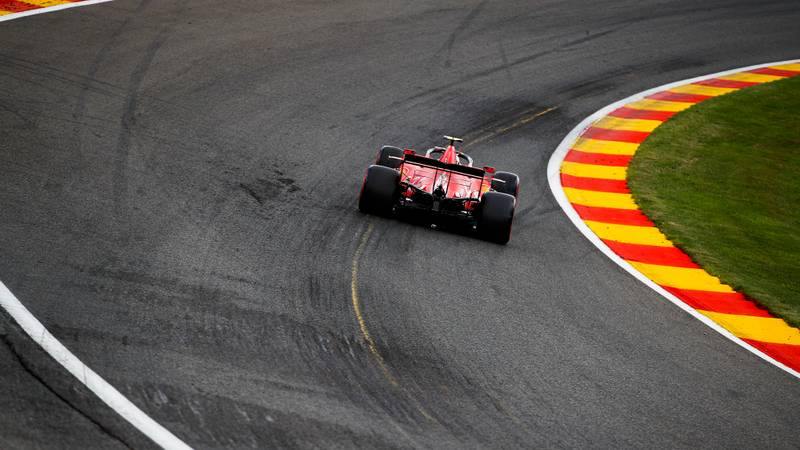Charles Leclerc during qualifying for the 2020 f1 Belgian Grand Prix at Spa Francorchamps