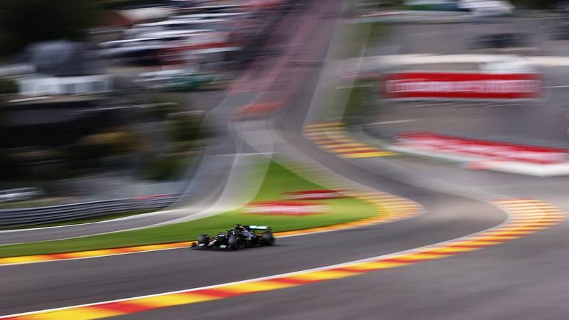 Lewis Hamilton speeds through Eau Rouge and towards RAdillon in the 2020 F1 Belgian Grand Prix