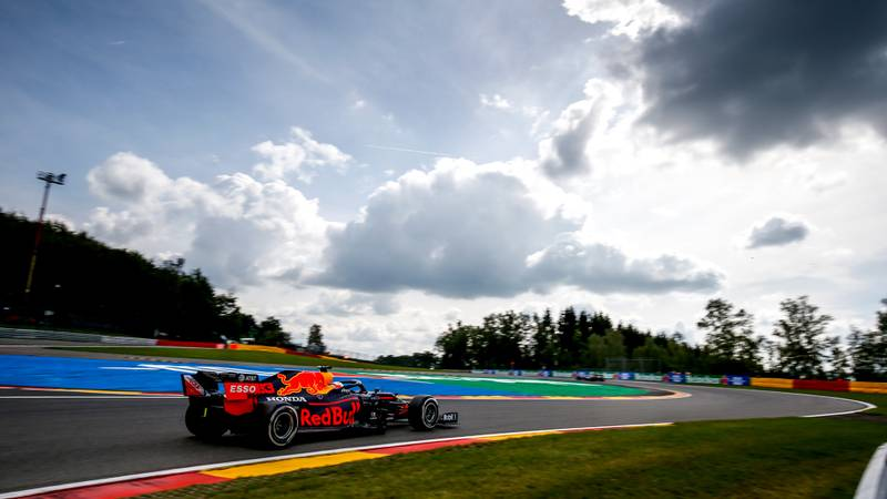 Max Verstappen at Spa Francorchamps during the 2020 F1 Belgian Grand Prix