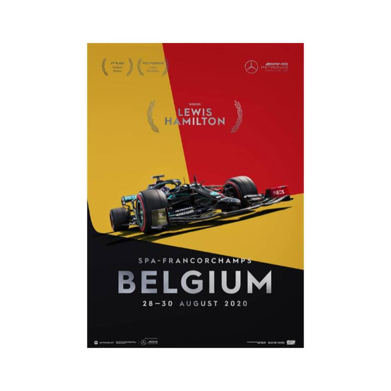 Product image for Lewis Hamilton - Mercedes W11 - Belgium 2020 | Automobilist | Collector's Edition poster
