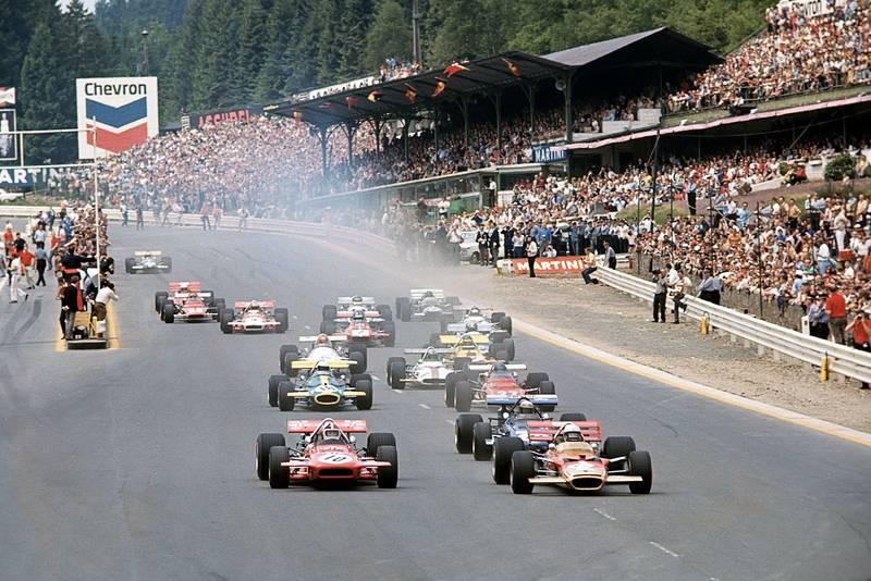 Jochen Rindt Lotus 1970 Belgian Grand Prix