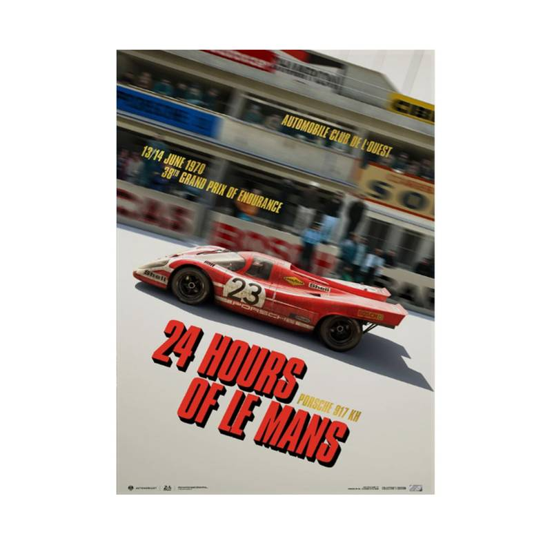 Product image for Porsche 917 KH - Past - 24h Le Mans - 1970 | Automobilist | Collector's Edition poster