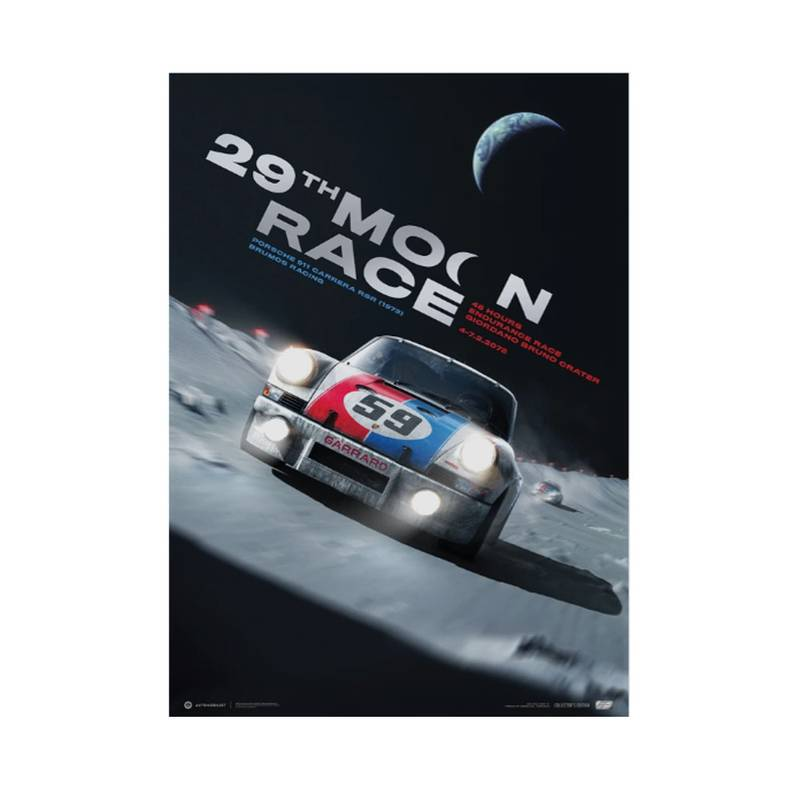 Product image for Porsche 911 Carrera RSR - Future - 29th Moon Race - 2078 | Automobilist | Collector's Edition poster