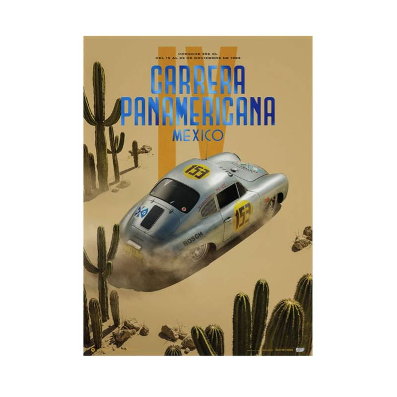 Product image for Porsche 356 SL - Past - Carrera PanAmericana - 1953 | Automobilist | Collector's Edition poster