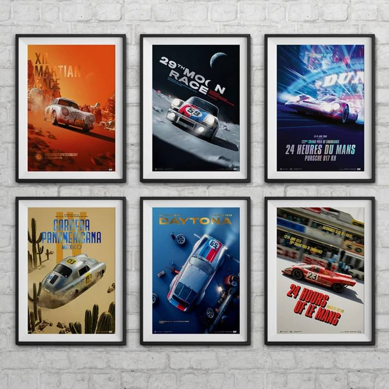Product image for Porsche - Past and Future Collection - 6 Posters | Automobilist | Collector's Edition poster