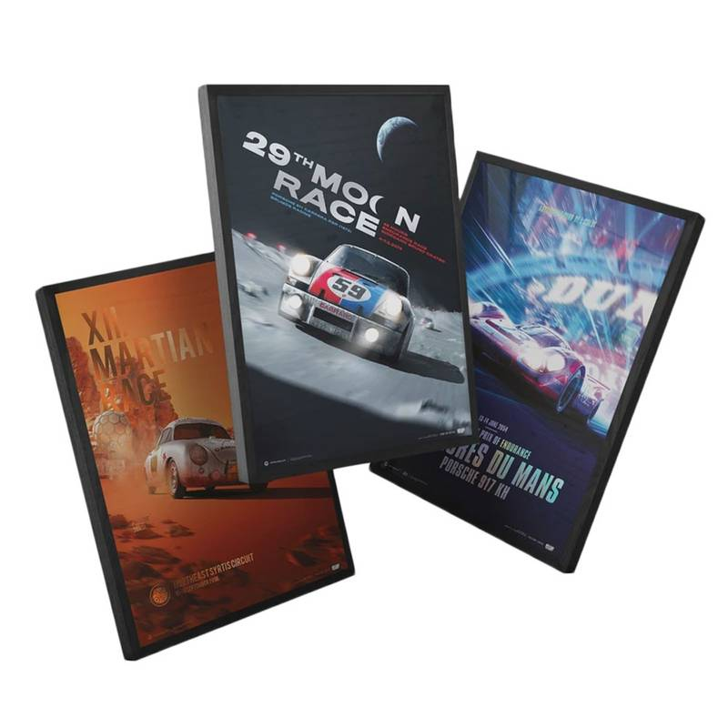 Product image for Porsche - The Future Lies Ahead - 3 Posters | Automobilist | Collector's Edition poster