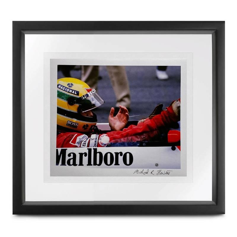 Product image for Ayrton Senna 'the glove' | Monaco 1990 | Michael Hewett | signed Michael Hewett | Photographic print