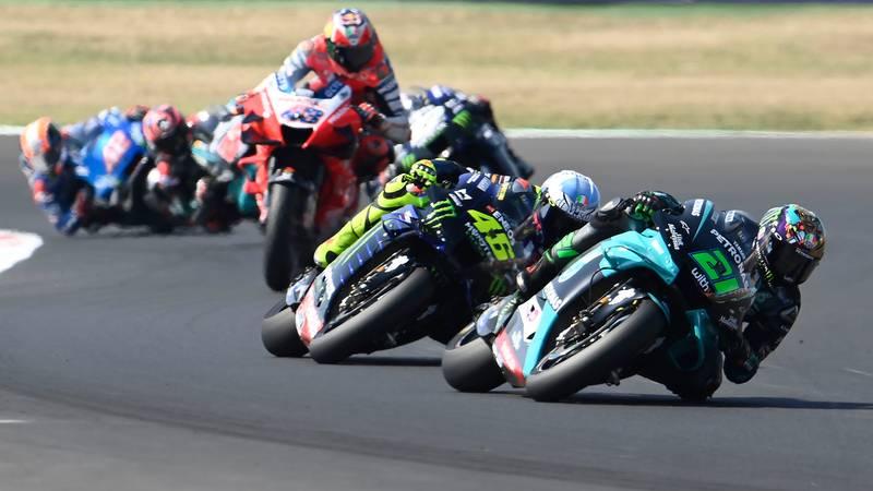 Morbidelli, Rossi, Miller, Misano 2020 MotoGP