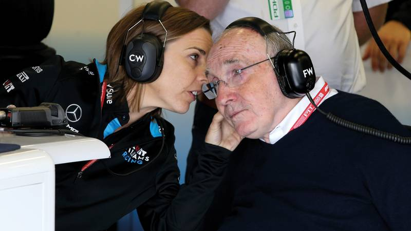 Claire Williams speaks to Frank Williams