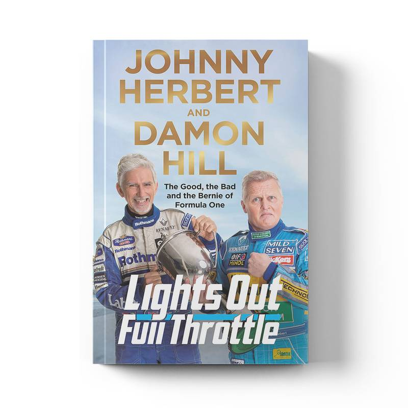 Product image for Lights Out, Full Throttle | Damon Hill & Johnny Herbert | Book | Hardback | Pre-Order